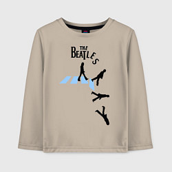 Лонгслив хлопковый детский The Beatles: break down цвета миндальный — фото 1