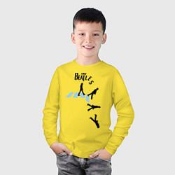 Лонгслив хлопковый детский The Beatles: break down цвета желтый — фото 2