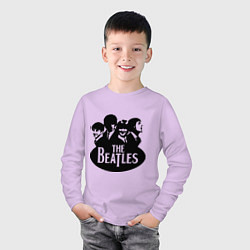 Лонгслив хлопковый детский The Beatles Band цвета лаванда — фото 2