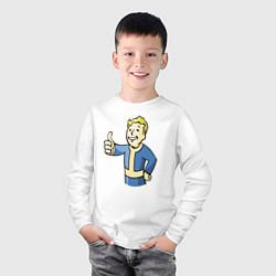 Лонгслив хлопковый детский Fallout vault boy цвета белый — фото 2