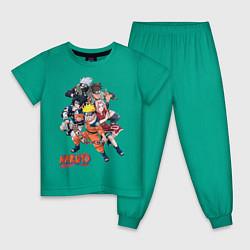 Пижама хлопковая детская Naruto цвета зеленый — фото 1
