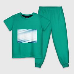 Пижама хлопковая детская Абстракция цвета зеленый — фото 1