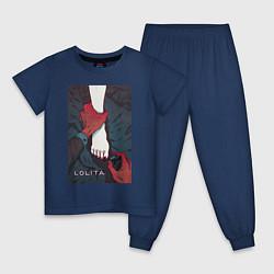 Пижама хлопковая детская Lolita цвета тёмно-синий — фото 1