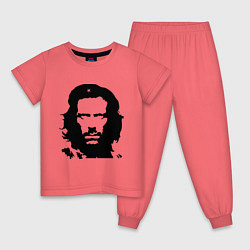 Пижама хлопковая детская Che House цвета коралловый — фото 1