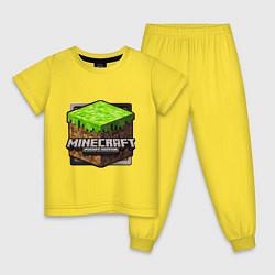 Детская хлопковая пижама с принтом Minecraft: Pocket Edition, цвет: желтый, артикул: 10012955805939 — фото 1
