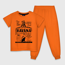 Пижама хлопковая детская Havana Cuba цвета оранжевый — фото 1