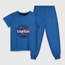 Пижама хлопковая детская Tardis NASA цвета синий — фото 1
