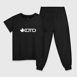 Пижама хлопковая детская KOTD цвета черный — фото 1