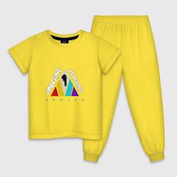Пижама хлопковая детская Imagine Dragons: Evolve цвета желтый — фото 1