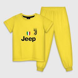 Пижама хлопковая детская Ronaldo: Juve Sport цвета желтый — фото 1