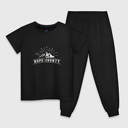 Пижама хлопковая детская Hope Count: Mountain цвета черный — фото 1