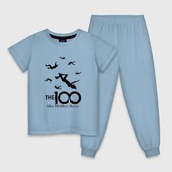 Пижама хлопковая детская The 100 цвета мягкое небо — фото 1
