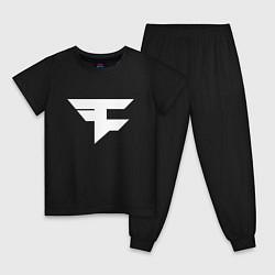Пижама хлопковая детская FAZE Symbol цвета черный — фото 1