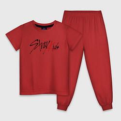 Пижама хлопковая детская Stray Kids цвета красный — фото 1