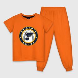 Пижама хлопковая детская St Louis Blues цвета оранжевый — фото 1
