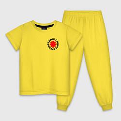 Пижама хлопковая детская RED HOT CHILI PEPPERS цвета желтый — фото 1