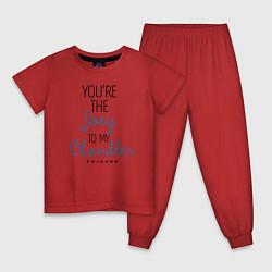 Пижама хлопковая детская Youre the Joey to my Chandler цвета красный — фото 1