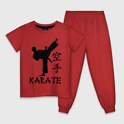 Пижама хлопковая детская Karate craftsmanship цвета красный — фото 1
