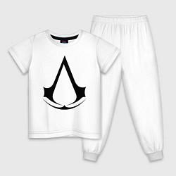 Пижама хлопковая детская Assassin's Creed цвета белый — фото 1