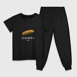 Пижама хлопковая детская STALKER 2: Батон цвета черный — фото 1