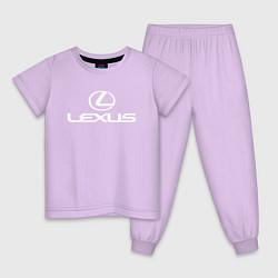 Пижама хлопковая детская LEXUS цвета лаванда — фото 1