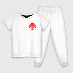 Пижама хлопковая детская OVERLORD цвета белый — фото 1