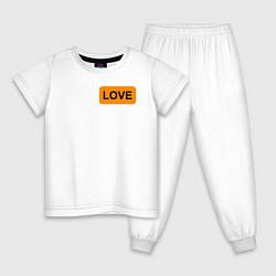 Пижама хлопковая детская True Love цвета белый — фото 1