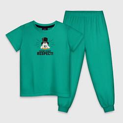 Пижама хлопковая детская Show Some Respect! цвета зеленый — фото 1