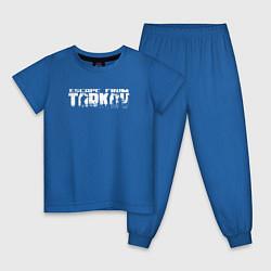 Пижама хлопковая детская Escape from Tarkov Bear спина Z цвета синий — фото 1