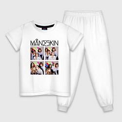 Пижама хлопковая детская Photo Maneskin цвета белый — фото 1