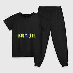 Пижама хлопковая детская BRASIL 2014 цвета черный — фото 1