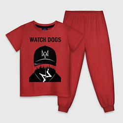 Пижама хлопковая детская You will be Hacker цвета красный — фото 1