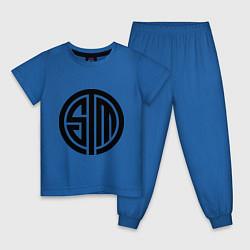 Пижама хлопковая детская SoloMid цвета синий — фото 1