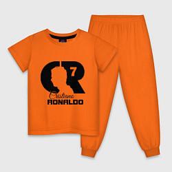 Пижама хлопковая детская CR Ronaldo 07 цвета оранжевый — фото 1