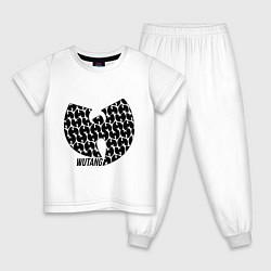 Пижама хлопковая детская Wu-Tang Clan: Symbol цвета белый — фото 1