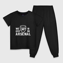Пижама хлопковая детская We are Arsenal 1886 цвета черный — фото 1