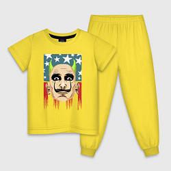 Пижама хлопковая детская The Prodigy: Dali USA цвета желтый — фото 1