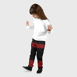 Брюки детские Славянский орнамент (на чёрном) цвета 3D — фото 2
