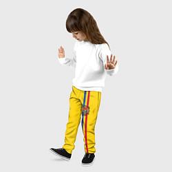 Брюки детские Молдавия: лента с гербом цвета 3D — фото 2