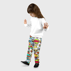Брюки детские Pop art Fashion цвета 3D — фото 2