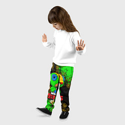 Детские 3D-штаны на резинке с принтом BRAWL STARS LEON, цвет: 3D, артикул: 10202007904927 — фото 2