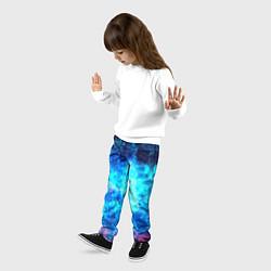 Брюки детские Голубая вселенная цвета 3D — фото 2