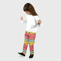 Брюки детские Цветные зигзаги цвета 3D — фото 2