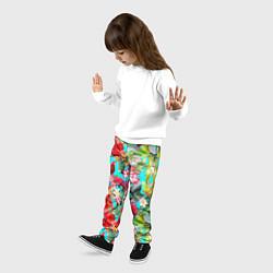 Брюки детские Тропический мир цвета 3D — фото 2