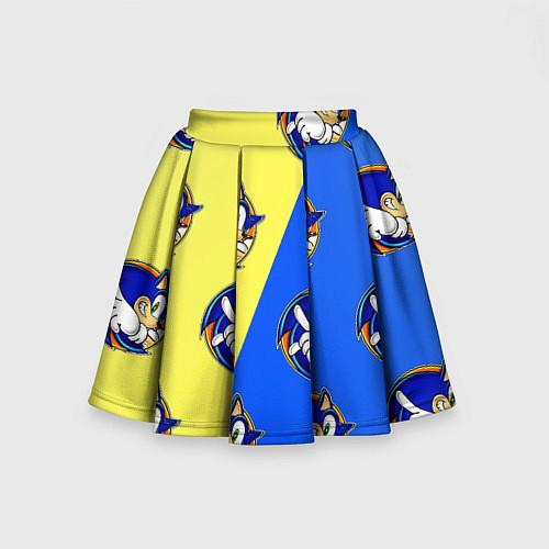 Детская юбка-солнце Sonic - Соник / 3D-принт – фото 2