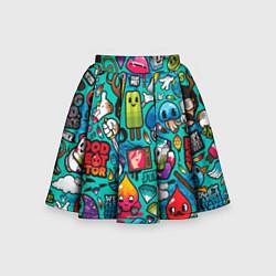Детская юбка-солнце Стикербомбинг