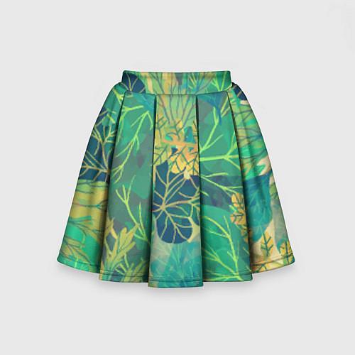 Детская юбка-солнце Узор из листьев / 3D – фото 2