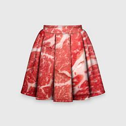 Юбка-солнце для девочки Кусок мяса цвета 3D — фото 1