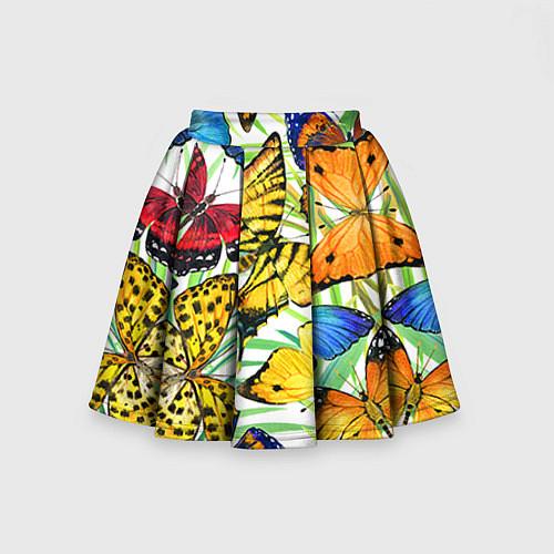 Детская юбка-солнце Тропические бабочки / 3D – фото 2
