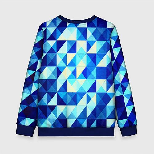 Детский свитшот Синяя геометрия / 3D-Синий – фото 2